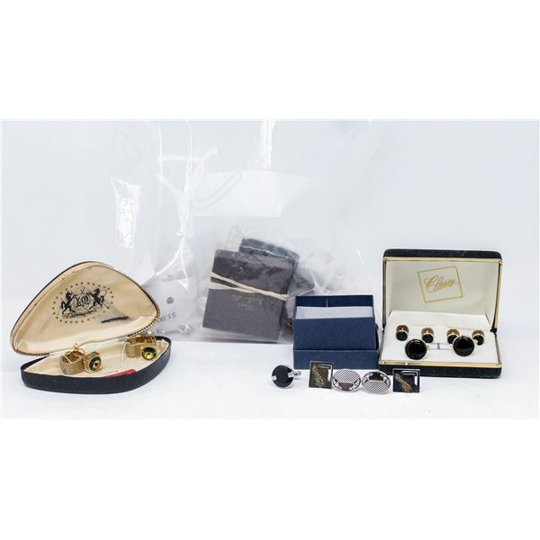 ANTIQUE CUFFLINKS AND TIE CLIP COLLECTION