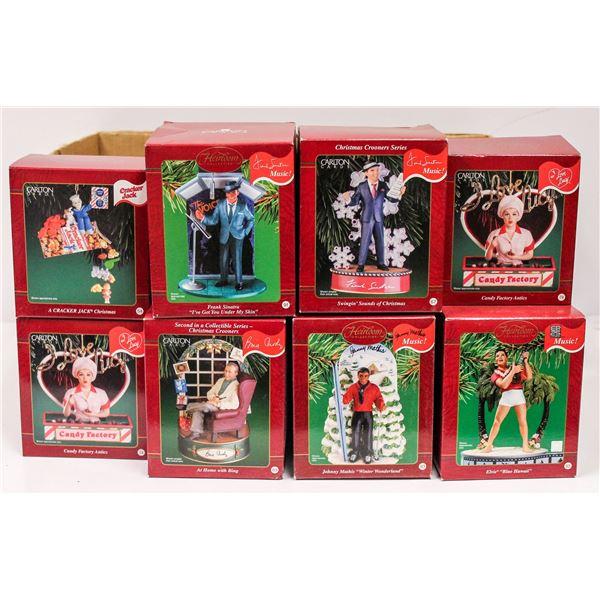 BOX OF COLLECTIBLE CARLTON CHRISTMAS ORNAMENTS