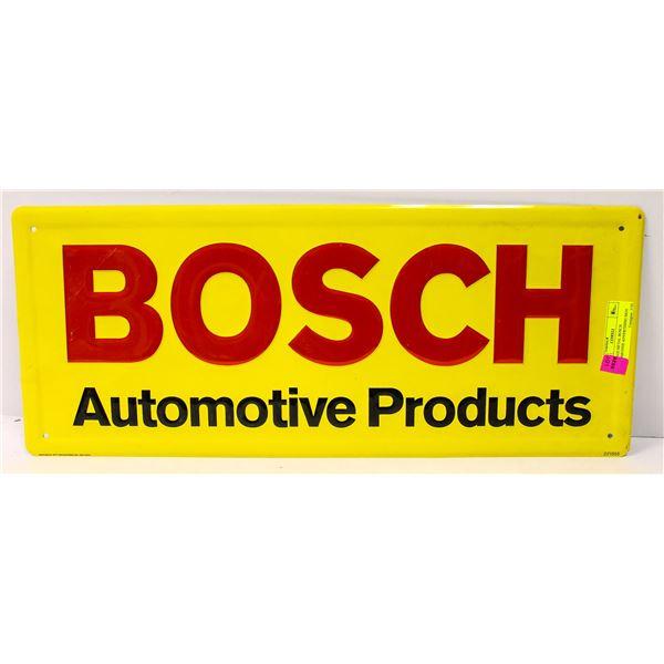 VINTAGE METAL BOSCH AUTOMOTIVE ADVERTISING SIGN