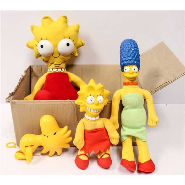 ASSORTED VINTAGE SIMPSONS TOYS AND WOODSTOCK TOY