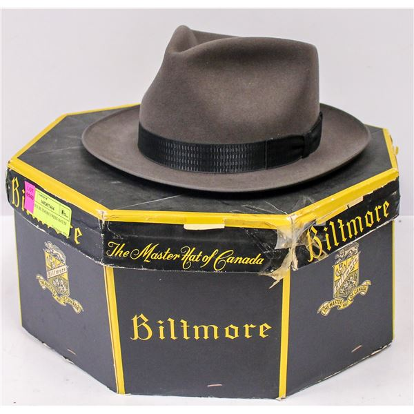 ANTIQUE BILTMORE DRESS HAT IN BOX.