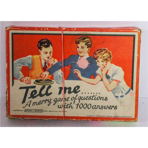 ANTIQUE TELL ME GAME IN BOX