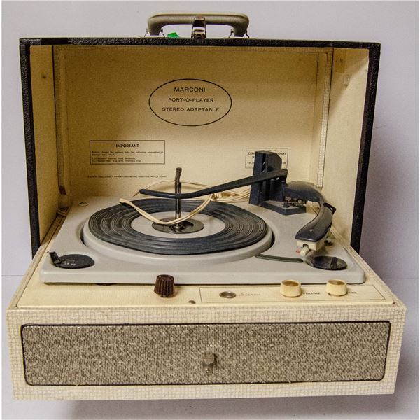 1960'S PORTABLE STEREO IN CASE