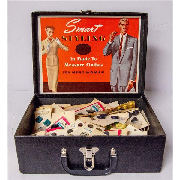 SMART STYLING BUTTON SALESMAN SAMPLE SUIT CASE