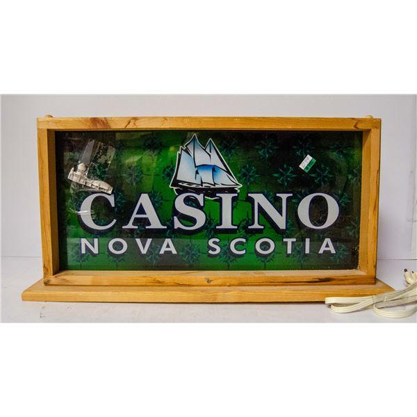 CASINO NOVA SCOTIA LIGHT UP SIGN