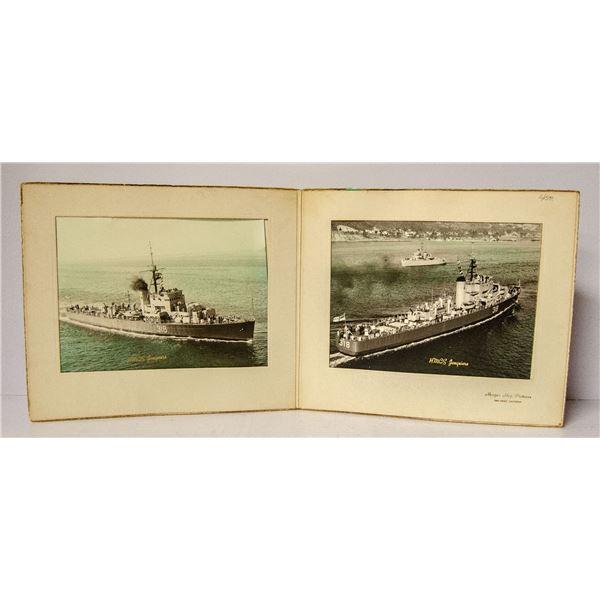 HMCS JIQUIERE WW2 BATTLE SHIP PICTURES ORIGINAL