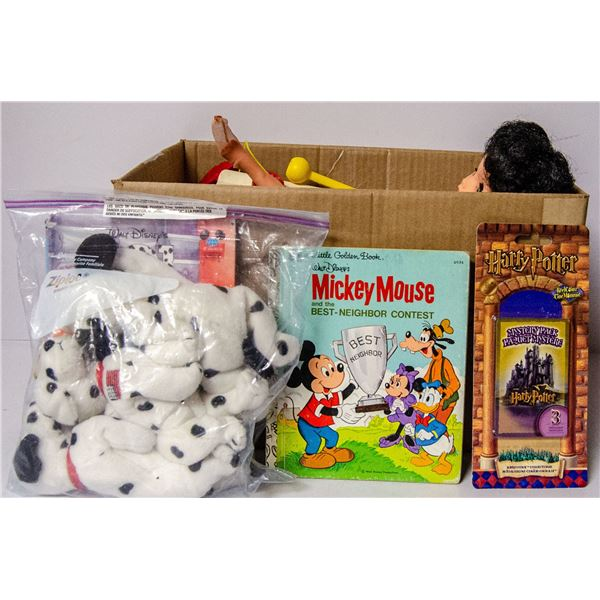 BOX FULL OF ASSORTED VINTAGE TOYS AND COLLECTIBLE