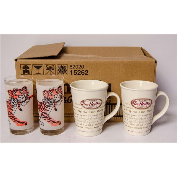 BOX OF ASSORTED VINTAGE CUPS AND MUGS