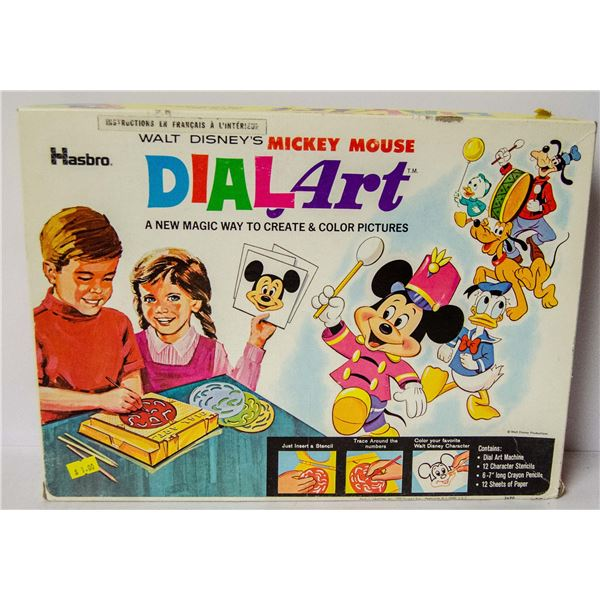 VINTAGE MICKEY MOUSE DIAL ART GAME
