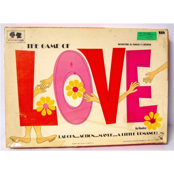 1968 GAME OF LOVE  BOARD GAME