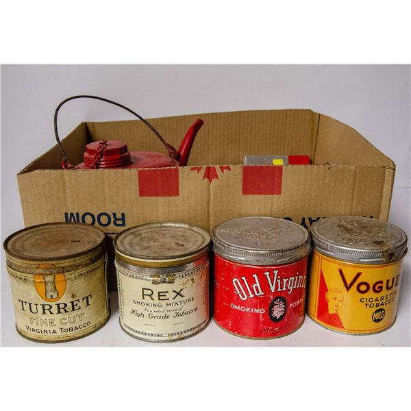 ASSORTED VINTAGE TOBACCO AND COLLECTIBLE TINS