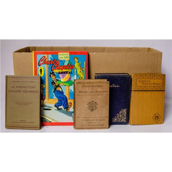 BOX OF ASSORTED VINTAGE BOOKS