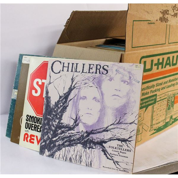 BOX OF ASSORTED 33RPM LP RECORDS