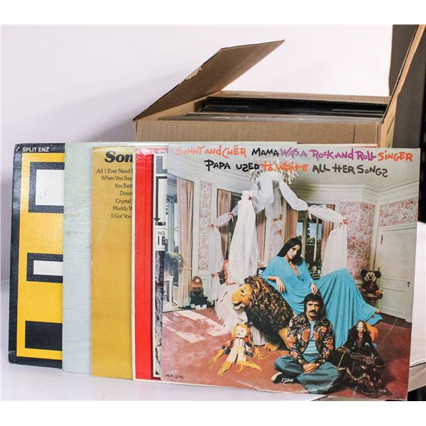 BOX OF APPROX ASSORTED VINTAGE RECORDS