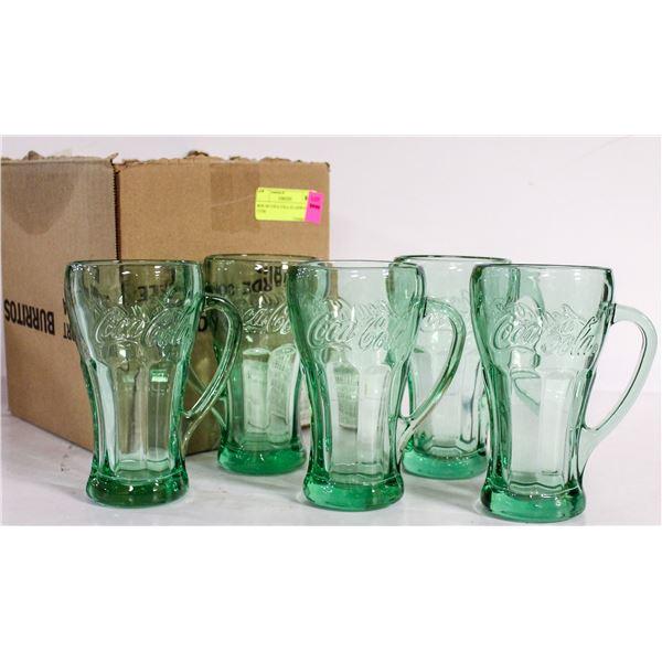 BOX OF COCA COLA GLASSWARE CUPS