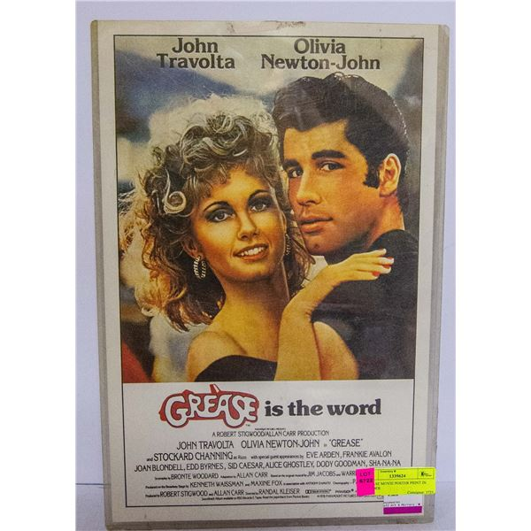 GREASE MOVIE POSTER PRINT IN HOLDER