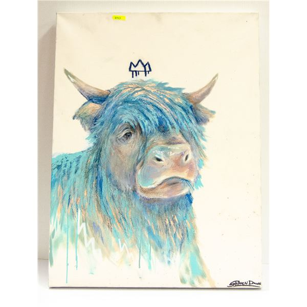 STEPHEN ARCHBOLD ORIGINAL BLUE COW ACRYLIC