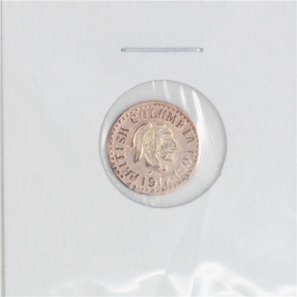 SCARCE 1917 BRITISH COLUMBIA GOLD TOKEN 10K GOLD