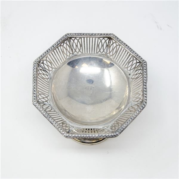 VINTAGE .925 SILVER STAMPED BOWL/CONTAINER, 67g