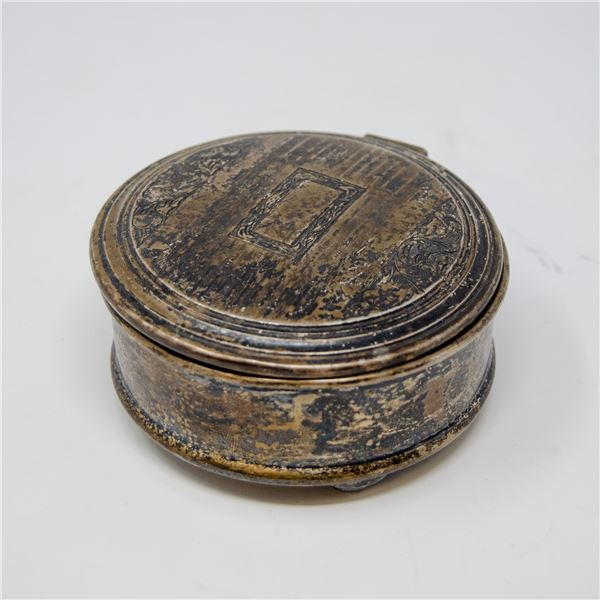 VINTAGE .925 SILVER STAMPED CONTAINER, 156g ASW