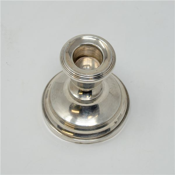 .925 SILVER HALLPMARKED CANDLE STICK WEIGHTED,
