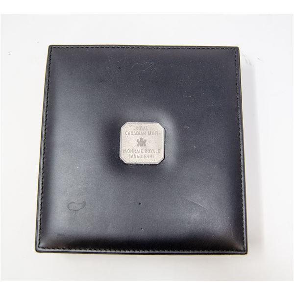 SCARCE 1998 10oz FINE SILVER $50 MAPLE LEAF & COA