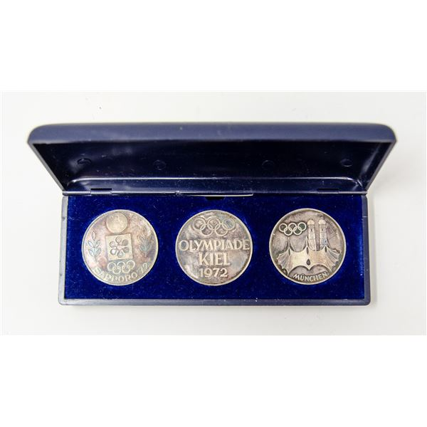 45.58g SILVER GERMANY 1972 OLYMPICS x3 MEDALS SET