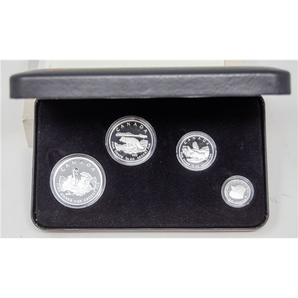 2004 ARCTIC FOX FINE SILVER 1.85oz TOTAL WEIGHT