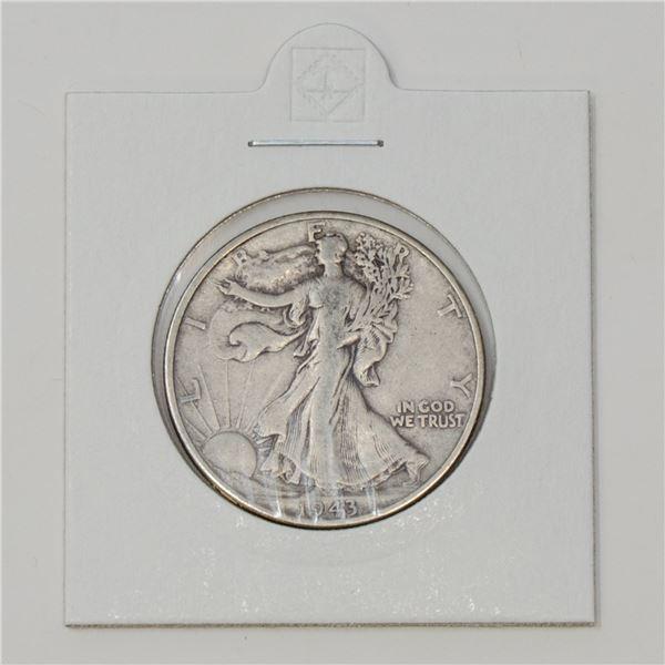 1943 SILVER USA HALF DOLLAR 50 CENTS COIN