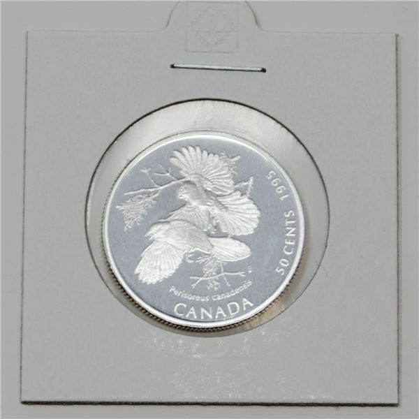 1995 SILVER CANADA BIRD SERIES 50 CENTS PROOF