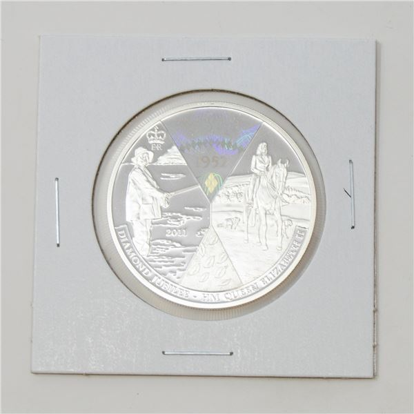 2011 SILVER SAMOA QEII DIAMOND JUBILEE $10 COIN