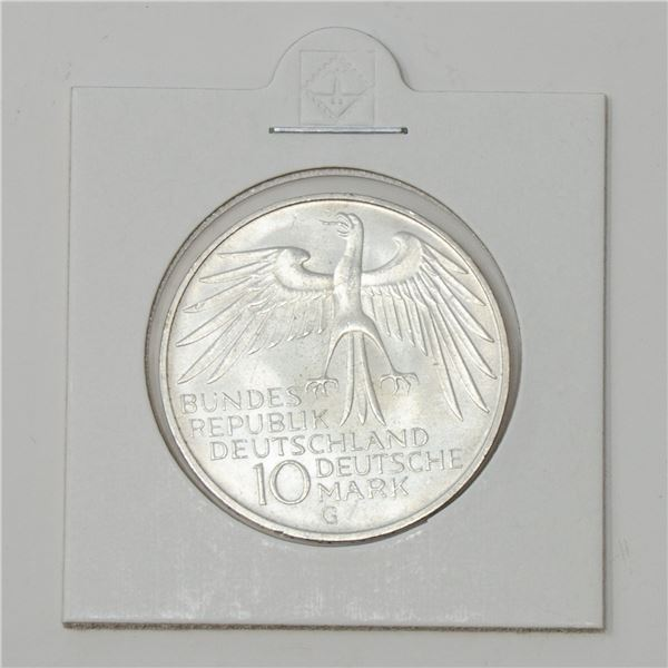 1972 SILVER GERMANY 10 MARKS COMMEMORATIVE COIN