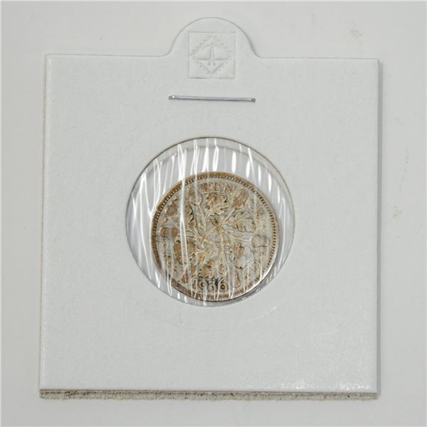 1936 SILVER GREAT BRITAIN 6 PENCE COIN, 2.70g