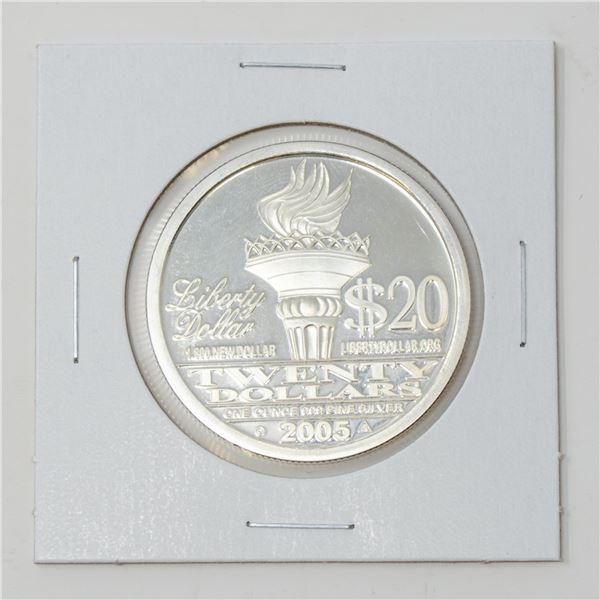 2005 FINE .999 SILVER 1oz LIBERTY USA