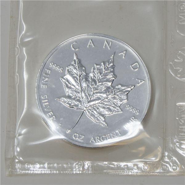 KEY DATE 1997 FINE SILVER 1oz MAPLE LEAF $5 COIN