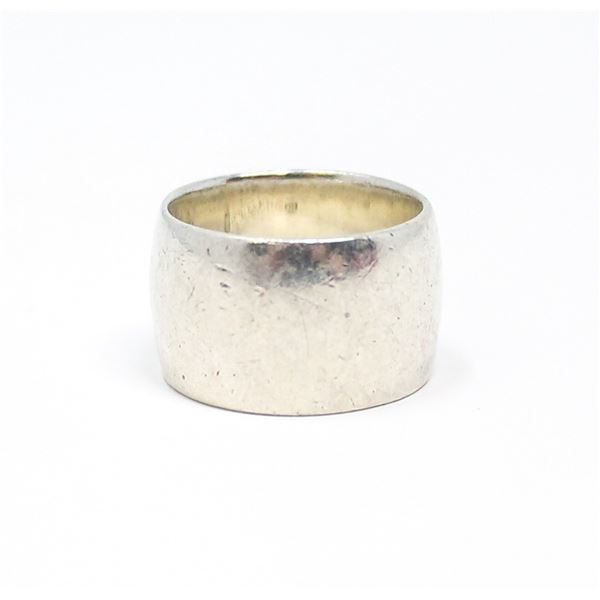 VINTAGE .925 SILVER MARKED RING, 10.5g, SIZE 6.5