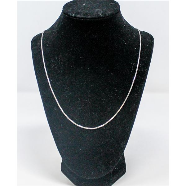 .925 SILVER STAMPED BOX NECKLACE/CHAIN, 5.4g