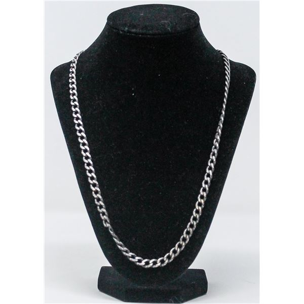 .925 SILVER STAMPED CHAIN NECKLACE, 38.5g