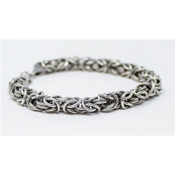 .925 SILVER STAMPED CHAIN BRACLET, 14.8g