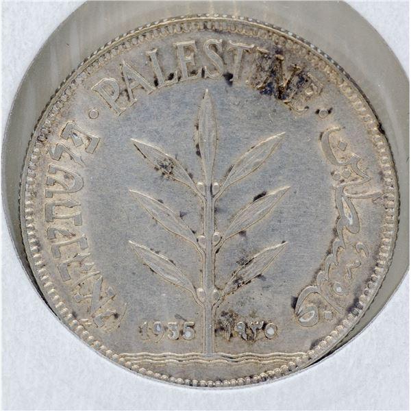 1935 WWII SILVER PALESTINE 100 MILS COIN