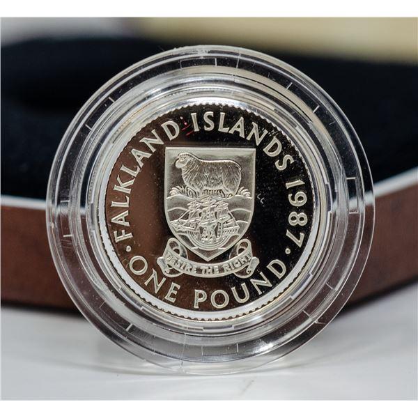 1987 SILVER GFREAT BRITAIN 1 POUND COIN