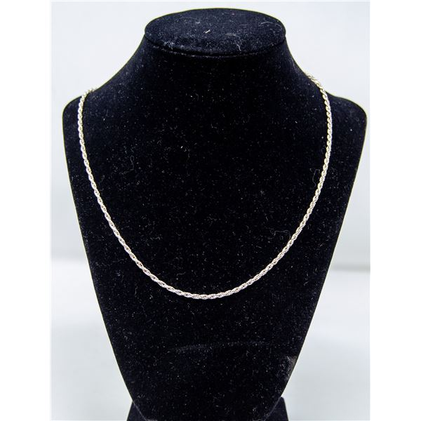 .925 SILVER STAMPED ROPE NECKLACE, 8.6g