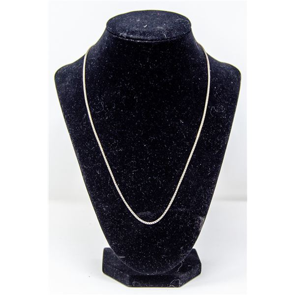 .925 SILVER STAMPED BOX STYLE NECKLACE, 5.5g