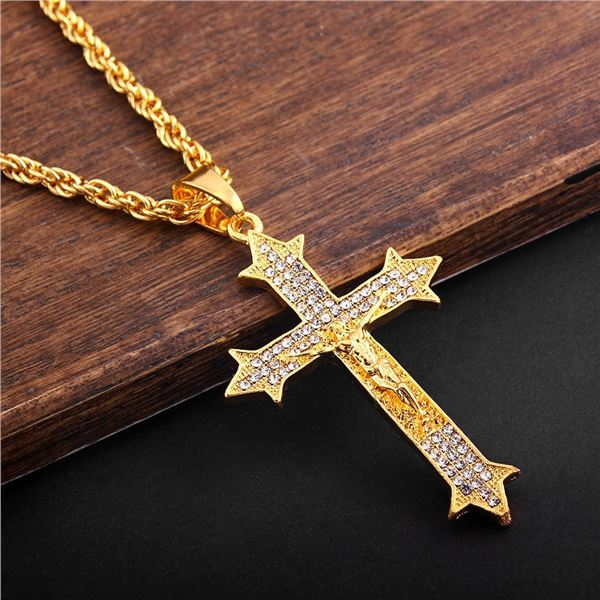 NEW GOLD PLATED RELIGIOUS CROSS