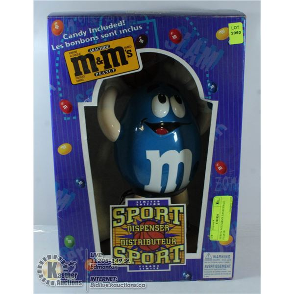 NEW IN BOX M&M'S BASKETBALL PLAYER