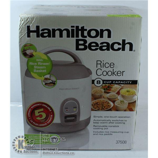 NEW 8CUP HAMILTON BEACH RICE COOKER