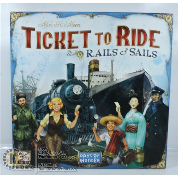 TICKET TO RIDE RAILS & SALE BOARD GAME