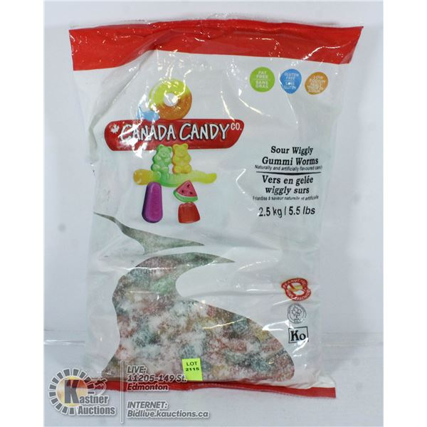 CANADA CANDY SOUR WIGGLY GUMMI WORMS