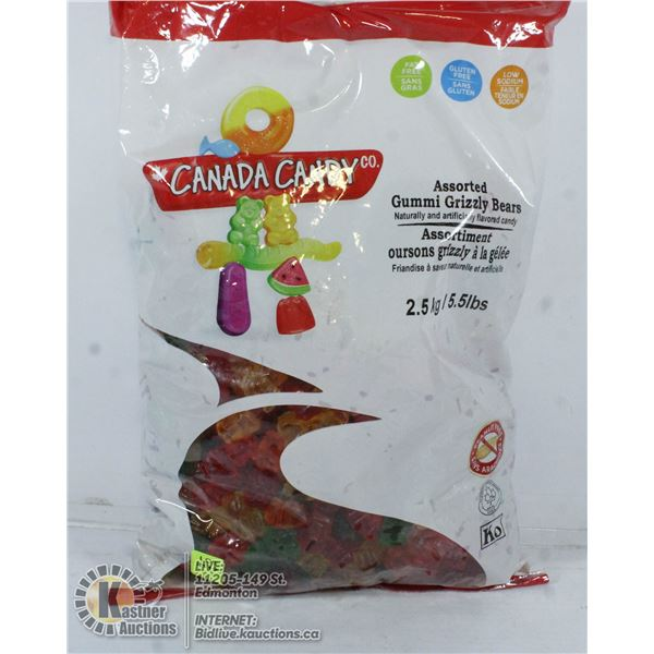 CANADA CANDY ASSORTED GUMMI GRIZZLY BEARS