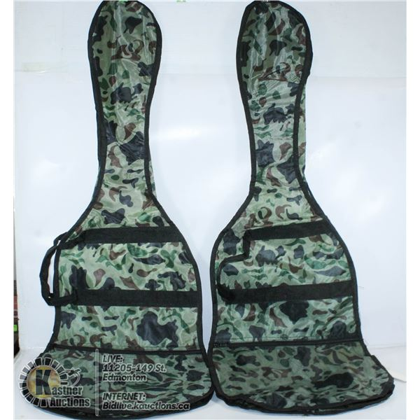 2 CAMO ELECTRIC  GUITAR BAGS WITH ZIPPERS SHOULDER